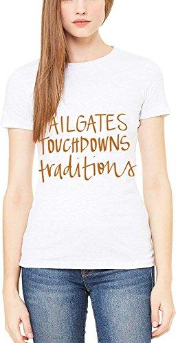 悔い改める経営者識別[エドナローズ] レディース シャツ Edna Rose Women's 'Tailgates Touchdowns [並行輸入品]