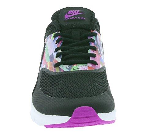 Nike 834320-001 - Zapatillas de deporte Niñas Negro (Black / Black-Hyper Violet-Hyper Violet)