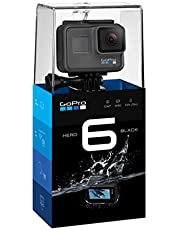 كاميرا هيرو 6 من غو برو بلون اسود - 12 ميجابكسل، كاميرا اكشن الترا اتش دي 4 كيه، Chdhx-601