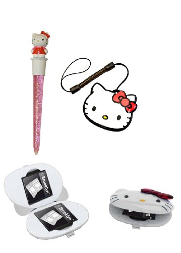- Hello Kitty Glam Set Jumbo Stift Game-Case Tuch für Nintendo DSi DS Lite DS 3DS