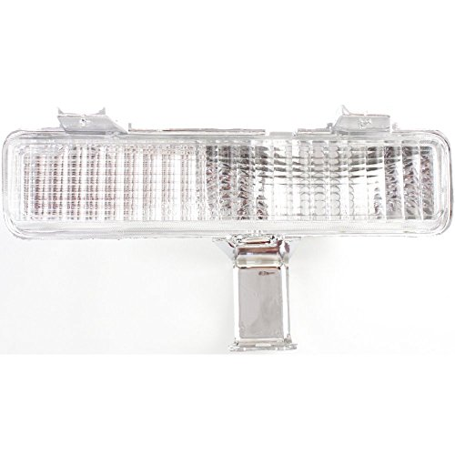 Evan-Fischer EVA23172012781 New Direct Fit Turn Signal Light for CAPRICE 80-90 Driver Side LH Lens and Housing On Bumper Caprice Turn Signal