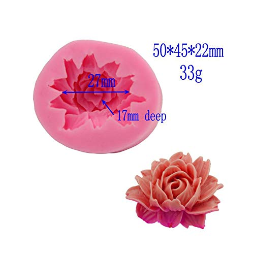 1 piece Rose/Flower Silicone Mold For Fudge Cake Decorating Chocolate Cookies Soap Fimo Polymer Clay Resins Kitchen Baking Tools