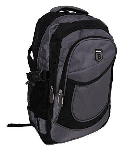 Rucksack, Schulrucksack, Sporttasche, Freizeitrucksack, City Rucksack, Arbeit, Sport, Schule, Uni, Freizeit verschiedene Modelle --präsentiert von RabamtaGO®-- (blau-extrem) M2 grau