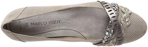 Marco Tozzi Damen 22100 Geschlossene Ballerinas Braun (Taupe Comb)