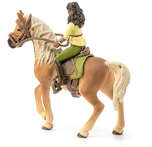 Schleich Horse Club Horse Club Sarah and Mystery Educational Figurine for Kids Ages 5-12