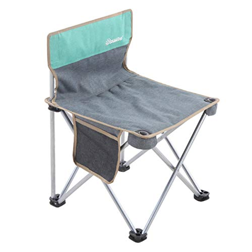 (Portable Folding Camping Chair, Mini Armless Lightweight Stool with Carry Bag for Outdoor Fishing Sporting Events Picnic Beach Park Little Stools (Green, M) )