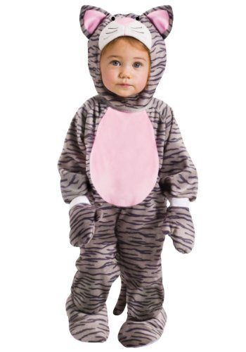 Fun World Little Stripe Kitten Toddler Costume, Large 3T-4T, Multicolor]()