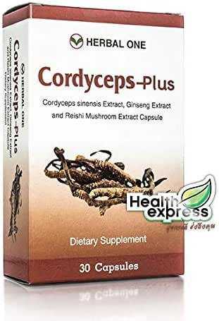 Herbal One(เฮอร์เบิล วัน) Cordyceps-Plus A bucket of Tang Tang Chao 30 tablets.