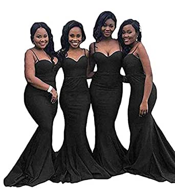 ab41e272ea45a Inmagicdress Mermaid Long Bridesmaid Dresses for Weddings Navy Blue ...