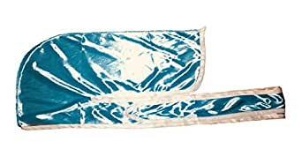 Rimix Silky Durag 360, 540, and 720 Waves Extra Long and Wide Straps Limited Edition (Baby Blue(Turquoise)/White)