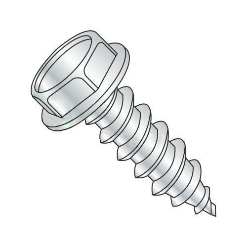 "#10 x 5/8"" Type AB Self-Tapping Screws/Unslotted/Hex Washer Head/Steel/Zinc (Carton: 6,000 pcs)"