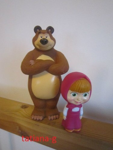 Amazon.com : Masha i Medved. Masha and the Bear Rubber Toys. Special ...