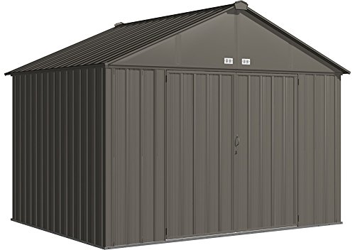 Arrow EZ10872HVCC EZEE Shed Extra High Gable 72'' Walls, 10 x 8', Charcoal Finish by Arrow