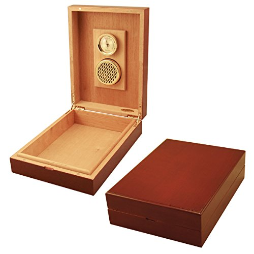 New Cuban Crafters Cherrywood Traveler Humidor Box for 10 Cigars (Humidor Crafters Cuban)