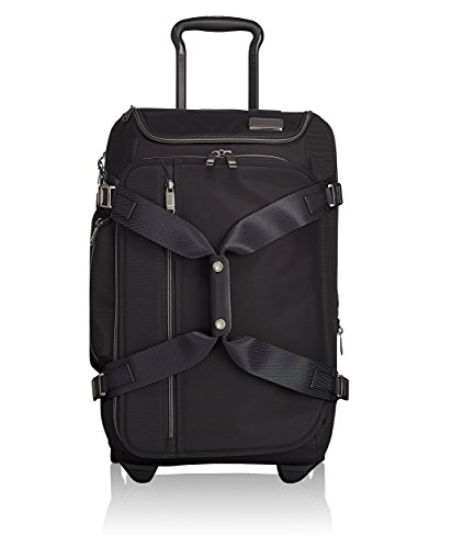 (TUMI - Merge Wheeled Duffel Carry-On Luggage - 22 Inch Rolling Suitcase for Men and Women - Black Contrast)