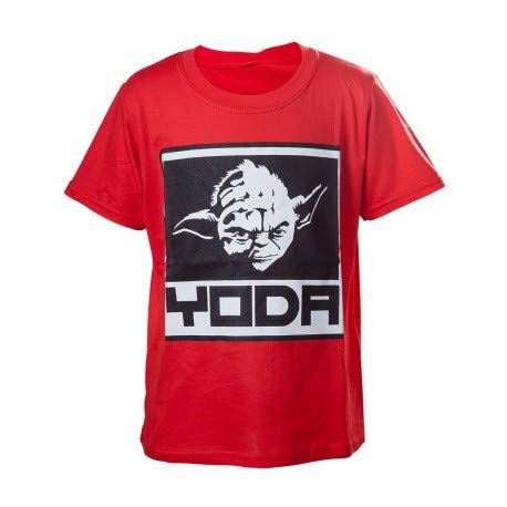 Bioworld - T-Shirt Star Wars - Red Yoda Enfant Taille 3/4 ans - 8718526068146