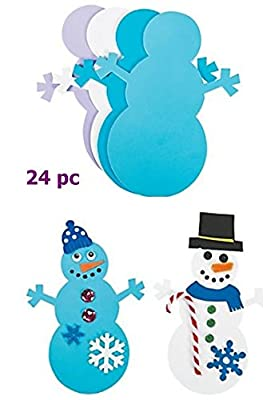 Foam Snowman Shapes - 24 pc - Ready to Decorate 8 inch shapes