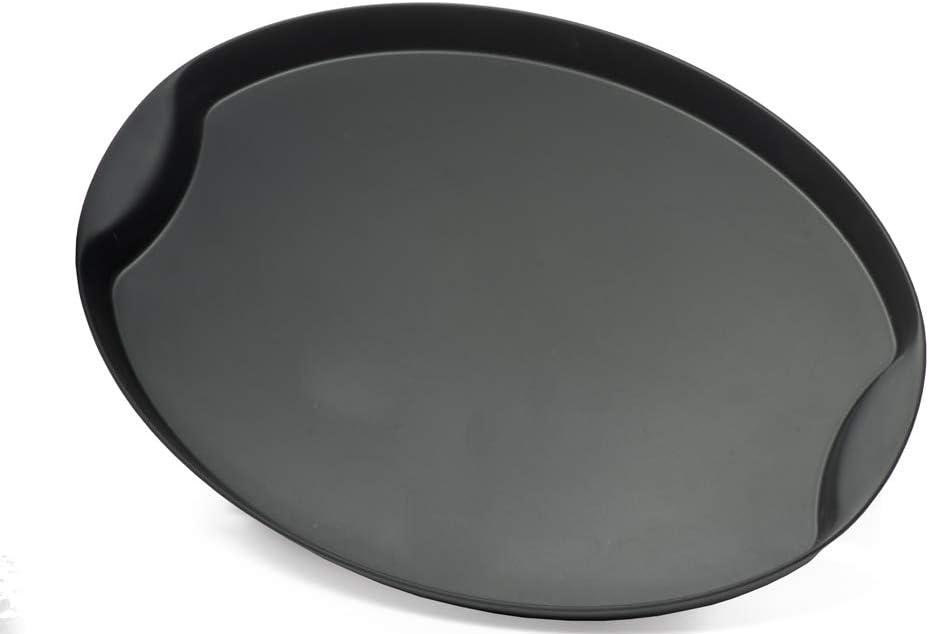Garnet 9011 Bandeja de plástico ovalada pequeña – con acabado antideslizante Soft Touch en la parte interior – Altura del borde 3 cm – Medidas 30 x 22 cm – Fabricado en Italia