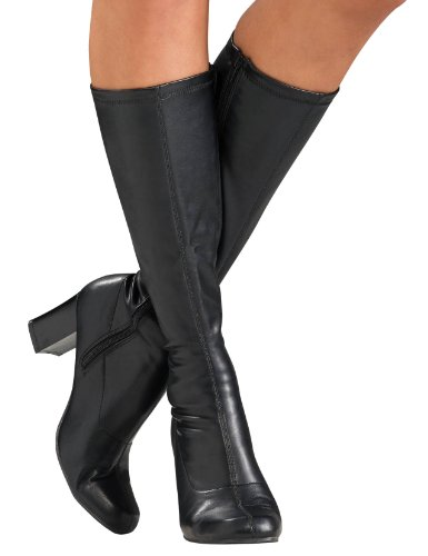 Secret Wishes Go-Go Boots, Black, -