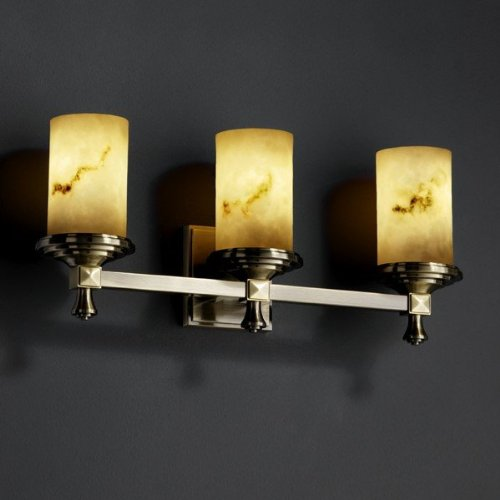 Justice Design Group FAL-8533-10-CROM Deco 3 Light Bathroom Bar Fixture from the LumenAria ()