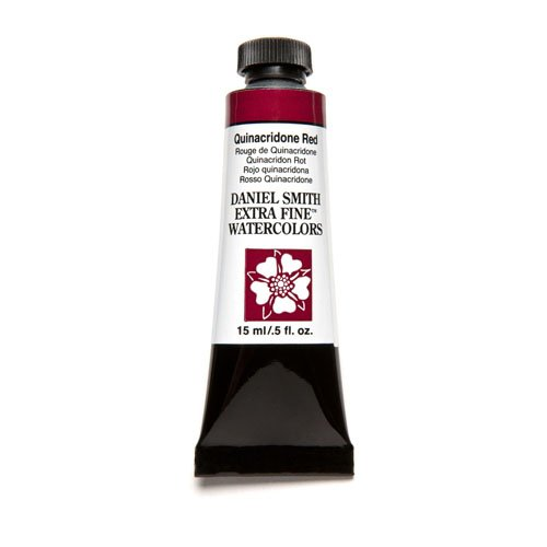 Daniel Smith Extra Fine Watercolor 15ml Paint Tube, Quinacridone, Red