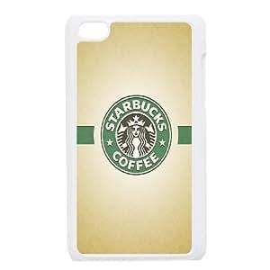 iPod Touch 4 Case White Starbucks Coffee Print Hard Phone Case Cover Generic XPDSUNTR09622