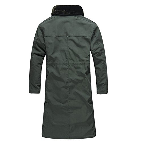 Bavero Con Cerniera Verde Manica A Di Cappotto Colore Vento Militare Solido Fym Dyf Giacca Giacche Maschile Tasca Lunga gOZzqxA