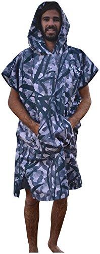 COR Board Racks Lightweight Hooded Swim Towel Poncho by Cor Surf | Lightweight Micro-Suede Travel Towel Poncho | Shakes off Sand and Dries Fast(Hawaiian Camo, Large)