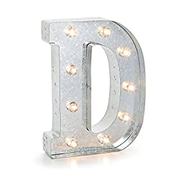Darice Silver Metal Marquee Letter 9.875\