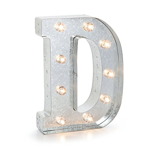 Darice Marquee Letters - D - Galvanized Silver - 9.875 inches ()