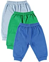 Luvable Friends 3-Pack Pants, Blue, 3-6 Months