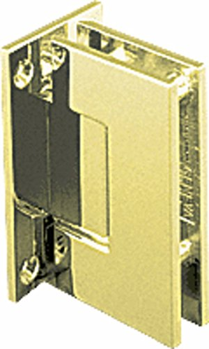 CRL Geneva 537 Series Satin Brass Wall Mount Full Back Plate Standard Hinge with 5186; Offset