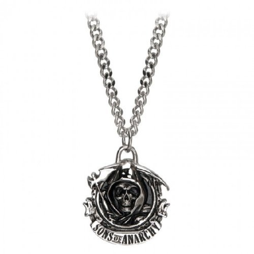 Sons of Anarchy Grim Reaper Skull Stainless Steel Necklace