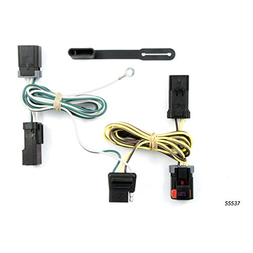 CURT 55537 Vehicle-Side Custom 4-Pin Trailer Wiring Harness for Select Chrysler, Dodge, Plymouth Minivans