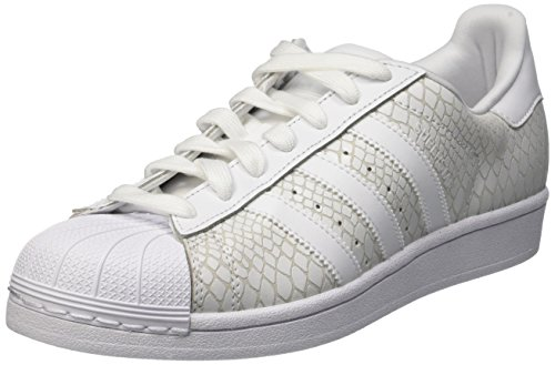 adidas Superstar W, Scarpe Low-Top Donna Multicolore (Ftwwht/Ftwwht/Ftwwht)