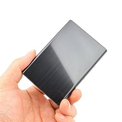 NS VOYAGE Porte Carte de Cr/édit Ultra Mince en Acier Inoxydable Blocage RFID Porte-Monnaie Rigide Argent