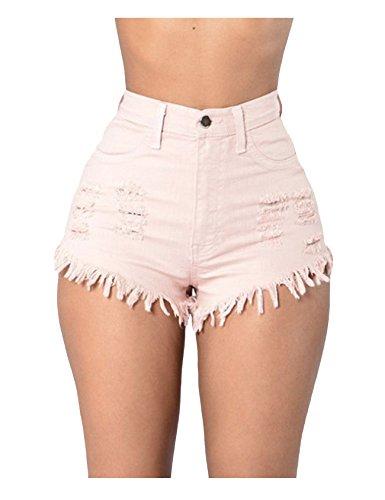 Letuwj Shorts - Couleur de bonbon - Femme Rose