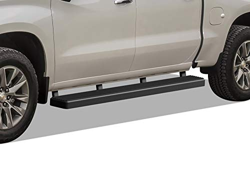 aps-iboard-black-5-inches-304-stainless-steel-running-boards-nerf-bars-side-steps-step-rails-compatible-with-2019-2020-chevy-silverado-gmc-sierra-1500-crew-cabexclude-2019-silverado-sierra-1500-ld