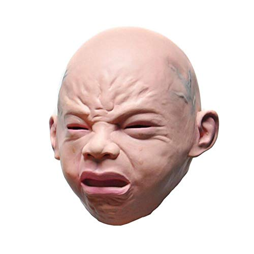 Novelty Latex Rubber Cry Baby Face Head Mask Halloween Christmas Party Costume Decorations Adult Accessory