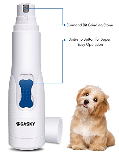 Dog Pet Nail Grinder for Small Medium Dog Cat - Cordless Gentle Painless Paws Clippers, Portable Grooming Trimmer for Fast Cutting by Gasky