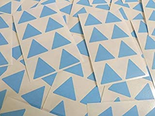 25mm (1') Forme Triangle Code Couleur Autocollants - Paquets de 96 Large Coloré Triangulaire Collant Étiquettes - 32 Couleurs Disponible - Bleu Clair
