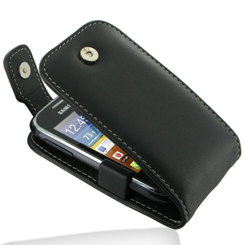 PDair T41 Black Leather Case for Samsung Galaxy Pocket GT-S5300 (Samsung Pocket S5300 compare prices)
