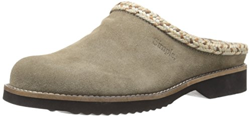 Simple Women's Hallie Mule, Taupe Suede, 7 M US