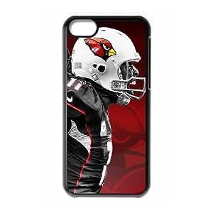 iPhone 5c Black Cell Phone Case Arizona Cardinals NFL Back Plastic Phone Case Cover NLYSJHA2318