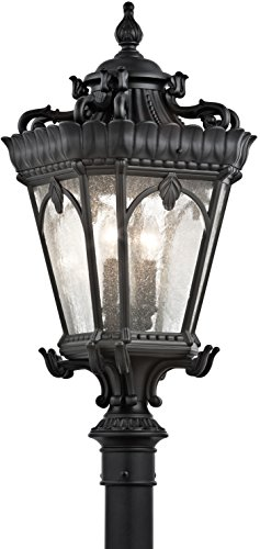 Kichler 9559BKT Tournai Outdoor Post Mount 4-Light, Textured Black