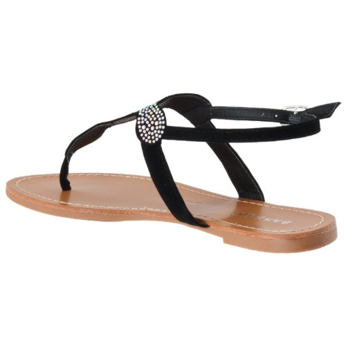 Sparkling Womens Bamboo Microsuede Womens Morris Morris Sandals Sparkling Black Detail Detail Bamboo AqOTwCA0