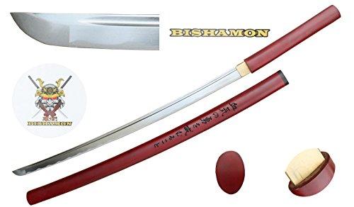 "Bisamon 40 ""شمشیر سامورایی ژاپنی جعلی ، سبک Shirasaya ، Katana. (رنگ خود را انتخاب کنید)"
