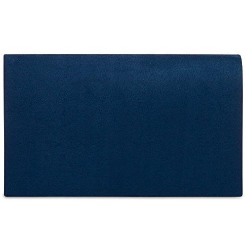 bleu tissu CASPAR à élégant femme pour toucher en chaînette Grand sac velours fonce Clutch main longue enveloppe avec TA356 Hwn0HqrT