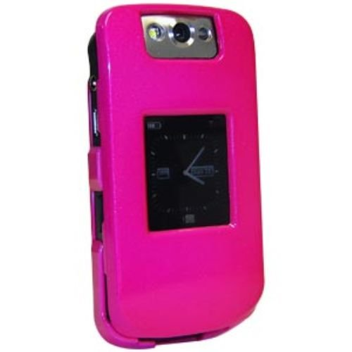 - Amzer Polished Snap-On Crystal Hard Case for BlackBerry Pearl Flip 8220/8230 - Hot Pink