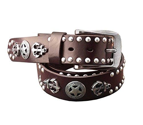 Leather Biker Belt - 9